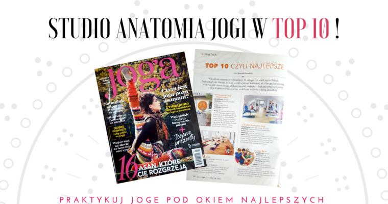 Studio Anatomia Jogi w TOP 10 według magazynu JOGA!